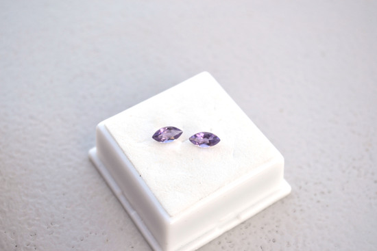 1.00 Carat Matched Pair of Very Fine Amethysts