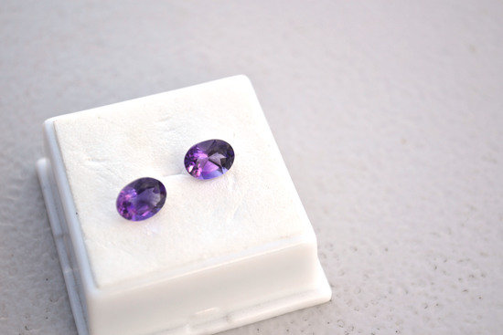 2.27 Carat Matched Pair of Very Fine Amethysts