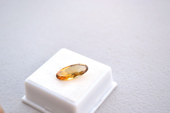 4.02 Carat Fine Oval Cut Citrine