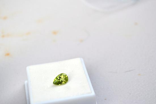 1.50 Carat Fantastic Pear Cut Peridot