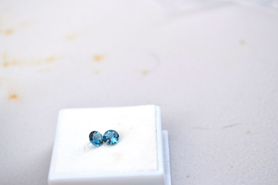 1.21 Carat Very Nice Matched Pair of Swiss Blue Topaz