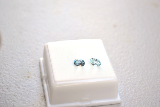 1.18 Carat Matched Pair of Blue Topaz