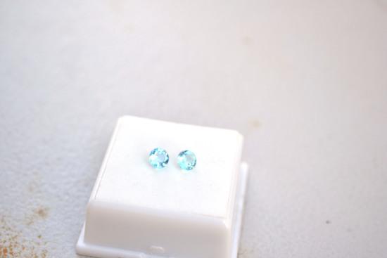 1.34 Carat Fine Matched Pair of Sky Blue Topaz
