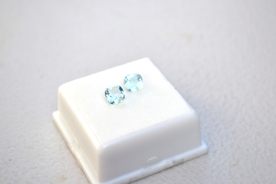 2.16 Carat Matched Pair of Nice Sky Blue Topaz