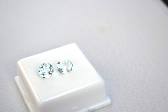 3.06 Carat Matched Pair of Sky Blue Topaz