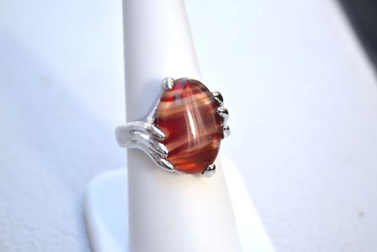 Fine Agate Ring -- 11.03 Grams