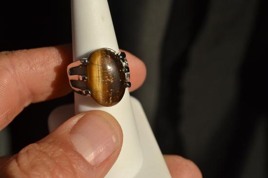 Tiger's Eye Ring -- 9.48 Grams