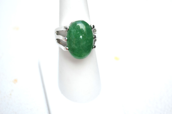 Green Jasper Ring -- 9.27 Grams