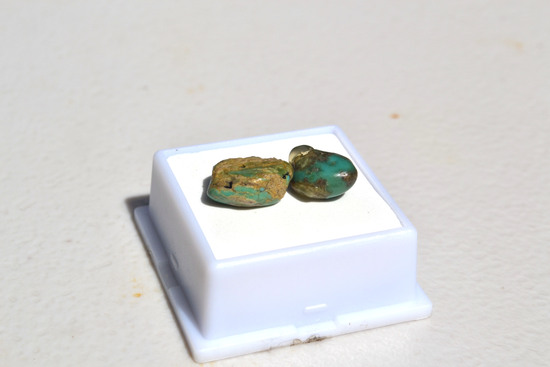 9.90 Carat Nice Pair of Turquoise Nuggets