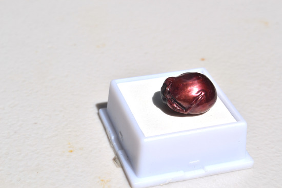 19.84 Carat Huge Coppery Red Baroque Pearl