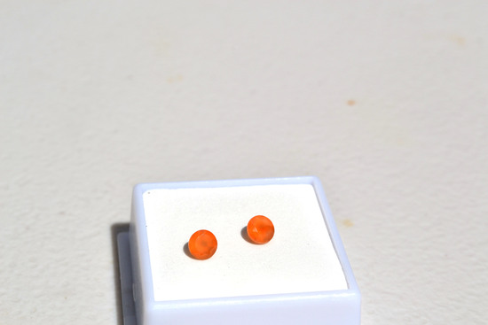 0.92 Carat Matched Pair of Fine Carnelian Rounds