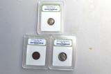 Trio of Coins in Sealed Containers