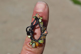 Fantastic Opal and Peridot Ring in Sterling Silver with Verification Report -- Size 7