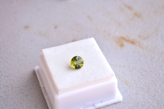 1.48 Carat Great Round Cut Peridot