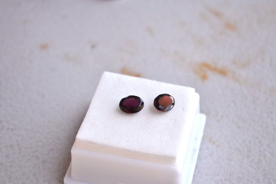 2.95 Carat Matched Pair of Oval Cut Garnets