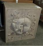 Land & Sky Hand Carved Cabinet