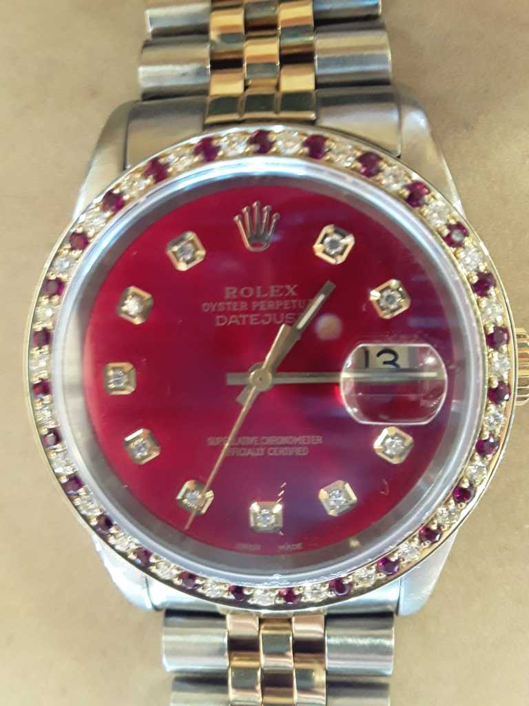 Rolex Datejust Two Tone Red