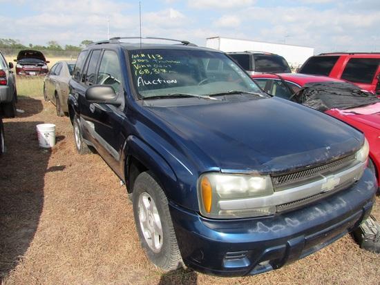 2003 Chevy Trailblazer Blue