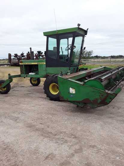 JD 2280 Diesel Tractor with JD 240 Self Propelled Windrower