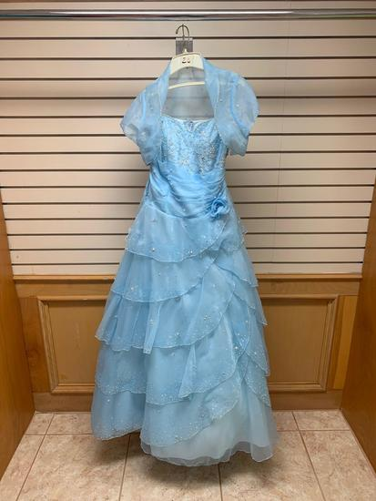 DLSC Baby Blue Dress, Size 14