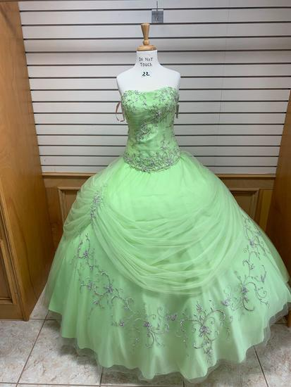Princess 4Q587 Lime Green Dress, Size 12
