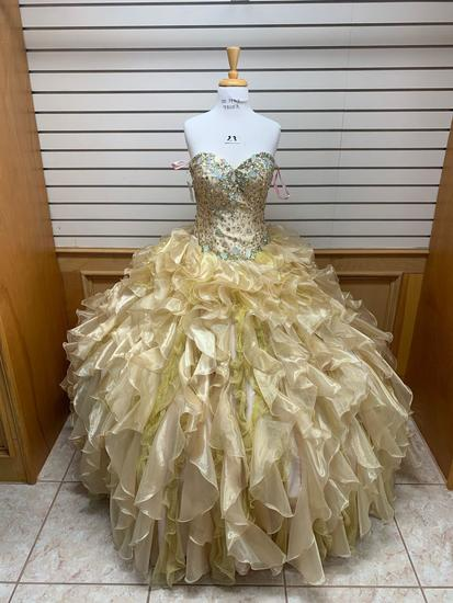 Mary's 4Q950 Gold Dress, Size 8
