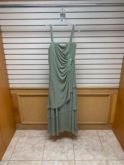 Poly USA 2898 Light Green Dress, Size 3XL