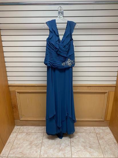Neblon 6156 Blue Dress, Size 3XL