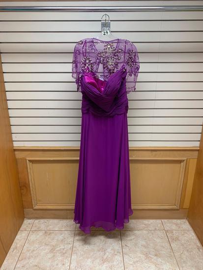 Poly USA 6802 Purple Dress, Size 4XL