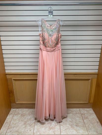Poly USA 7136 Peach Dress, Size L