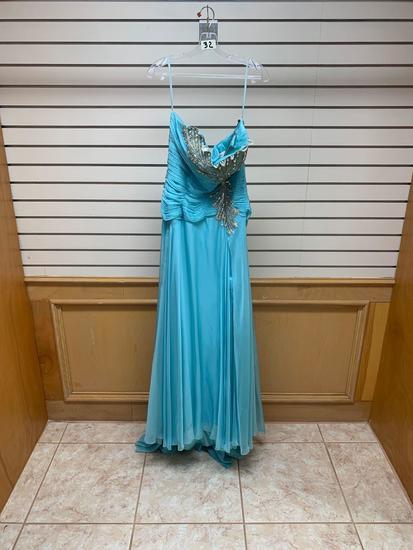 Poly USA 6924 Aqua Dress, Size XL