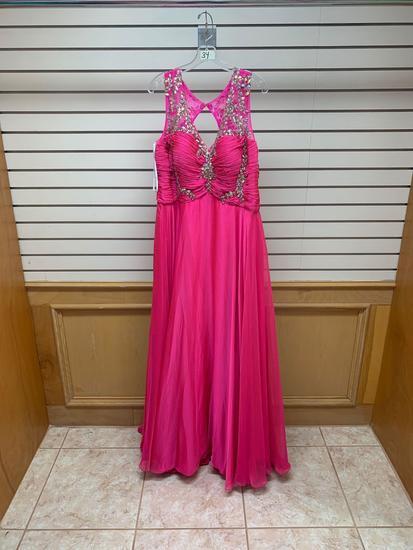 Poly USA 6950 Pink Dress, Size 3XL