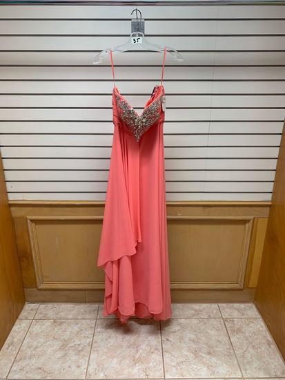 Poly USA 6972 Coral Dress, Size L