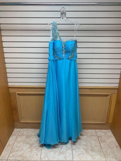 Poly USA 6950 Turquoise Dress, Size 2XL