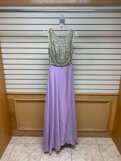 Poly USA 7074 Lavender Dress, Size M