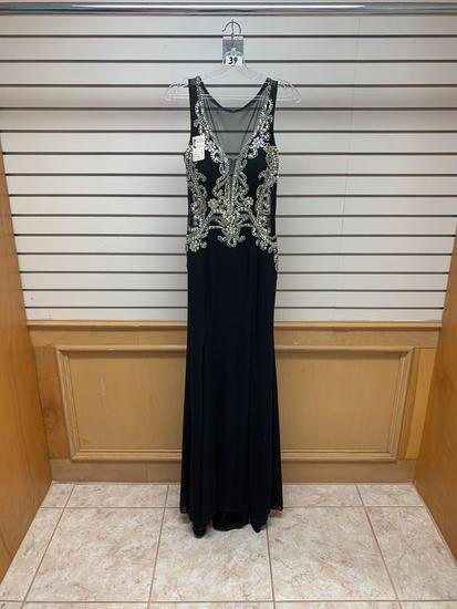 Poly USA 7090 Black Dress, Size M