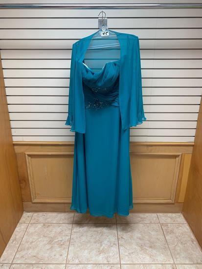 Modern Maids M-2025 Teal Blue Dress, Size 18