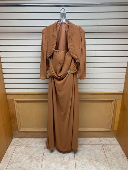 Modern Maids M-2011 Brown Dress, Size 24