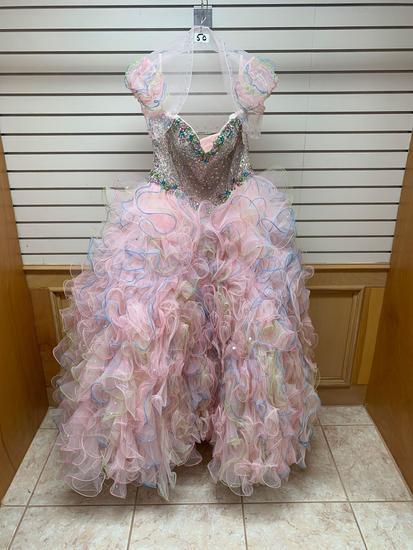 Mori Lee 89Q04 Blush Dress, Size 12
