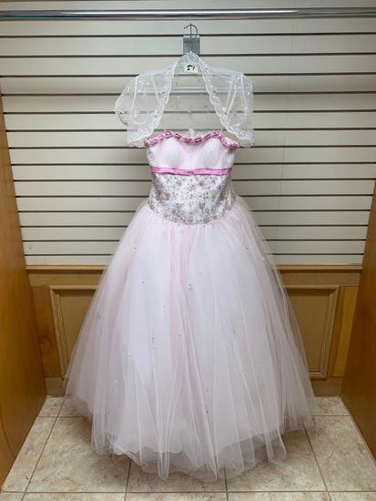 Mori Lee 86061 Lt. Pink Dress, Size 10