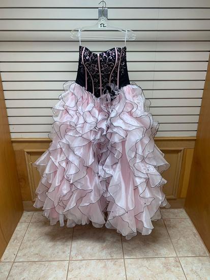 Da Vinci Black/Pink Dress, Size 12