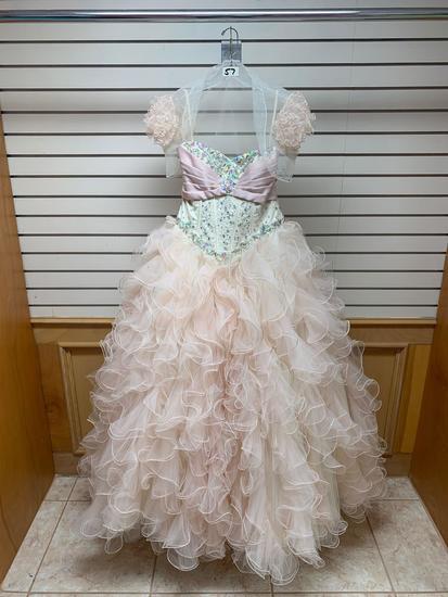 Mori Lee 88Q43 Champagne Dress, Size 12