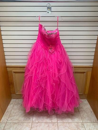 Vizcaya 87061 Pink Panther Dress, Size 12