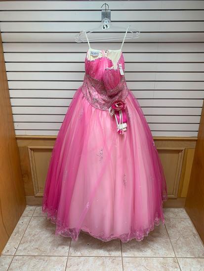 Mori Lee 87061 Pink Dress, Size 18