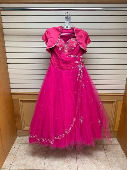 Mori Lee 86023 Cerise Dress, Size 12