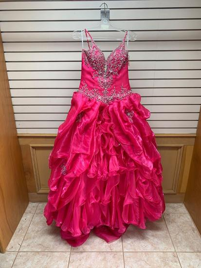 Quince Collection 26682 Fushia Dress, Size 8