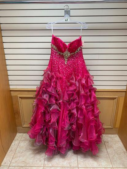 Quince Collection 26690 Fushia Dress, Size 12