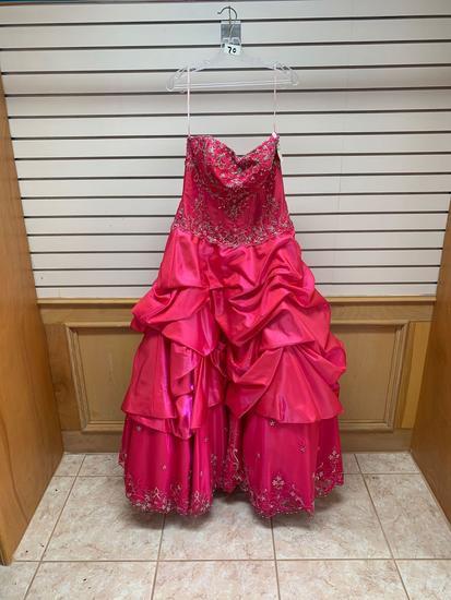 P.C. Mary's 4Q460 Magenta Dress, Size 18