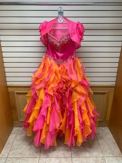 P.C. Mary's 4097 Magenta Dress, Size 10