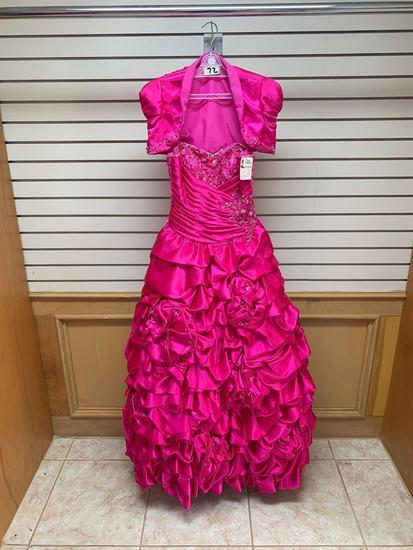 ???? 87006 Fushia Dress, Size 6